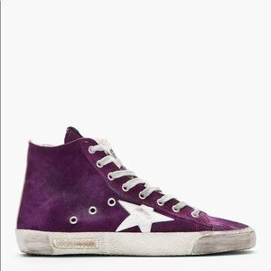 Golden Goose Francy High Top Purple Star Sneaker
